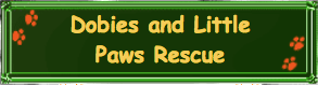 Dobies and Little Paws Rescue logo
