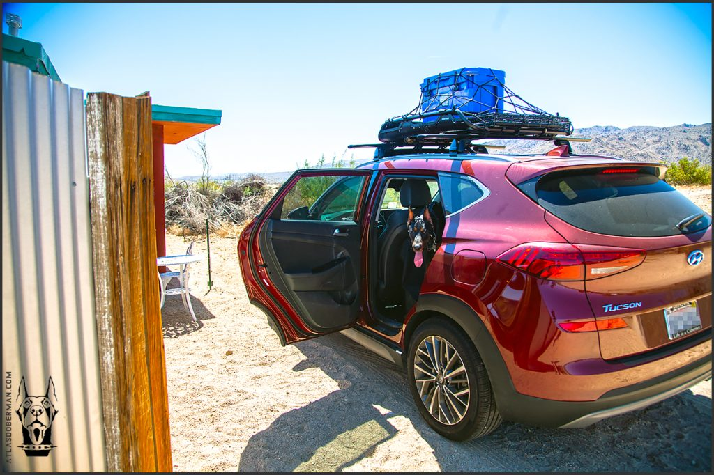 Our Hyundai Tucson ready for a road trip to Joshua Tree